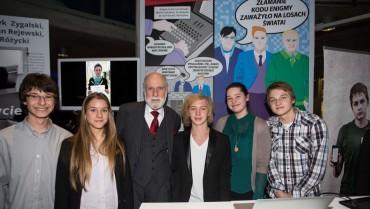 Uczniowie ZSO 10 na spotkaniu z Vintem Cerfem