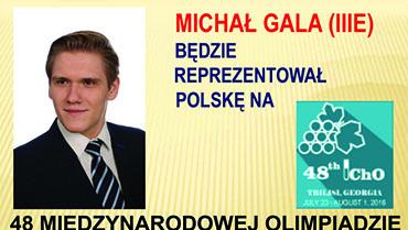 MICHAŁ GALA REPREZENTUJE POLSKĘ NA 48 OLIMPIADZIE CHEMICZNEJ W TIBILISI (GRUZJA)