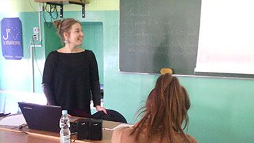 Druga wizyta  MANON CUPPENS  lektora języka francuskiego