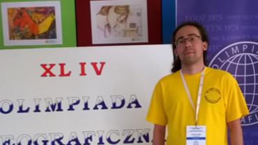 Andrzej Zięba z klasy III D finalistą XLIV Olimpiady Geograficznej