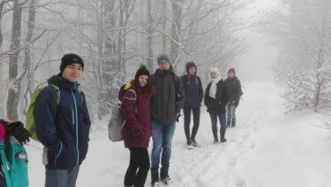 Zimowy rajd górski