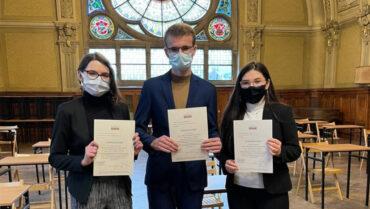 Sukcesy uczniów w etapie okręgowym VIII Ogólnopolskiej Olimpiady Wiedzy o Prawach Człowieka w Świecie Współczesnym.