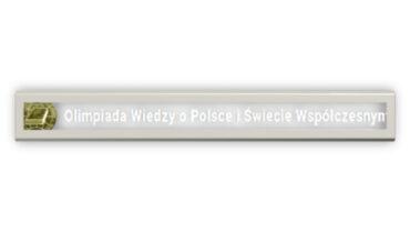 Adam Kancy laureatem Ogólnopolskiej Olimpiady  Wiedzy o Polsce i Świecie Współczesnym