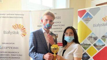 Adam Kancy laureatem 3 miejsca Ogólnopolskiej Olimpiady Wiedzy o III RP